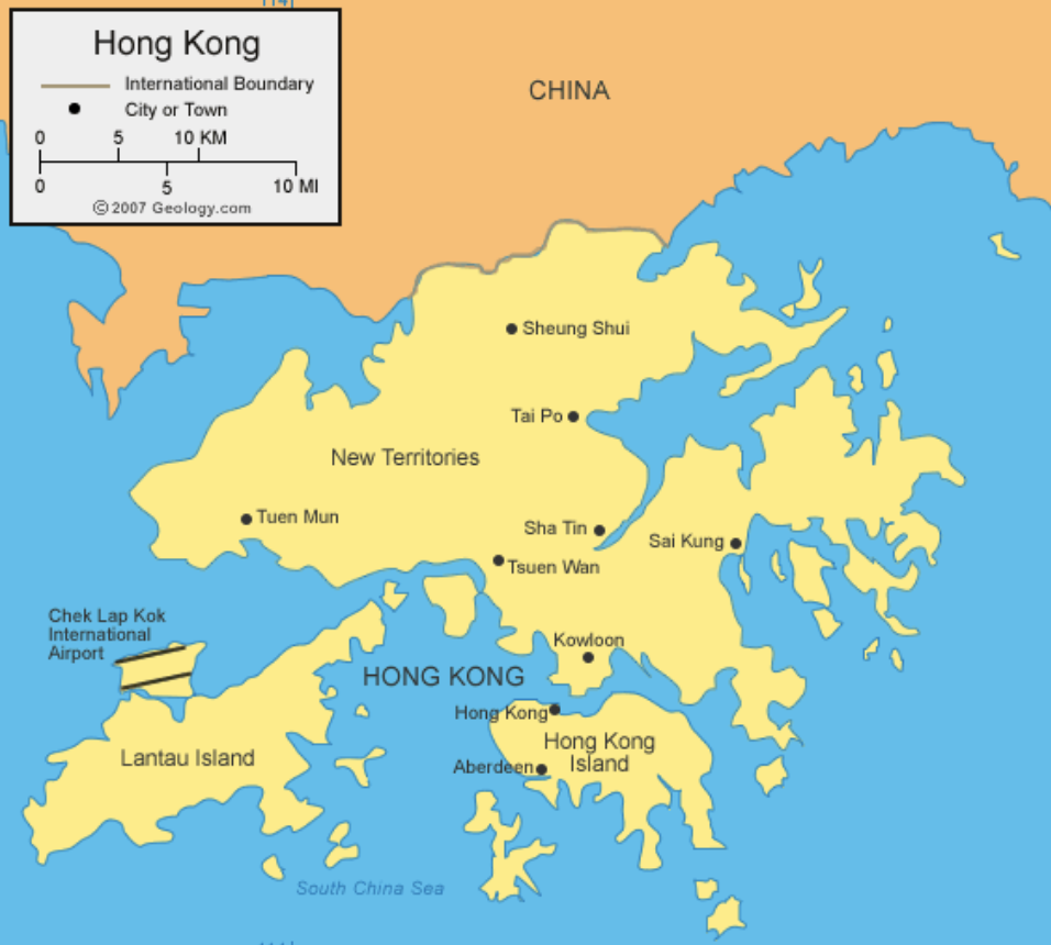 Hong Kong Map ajourneylife