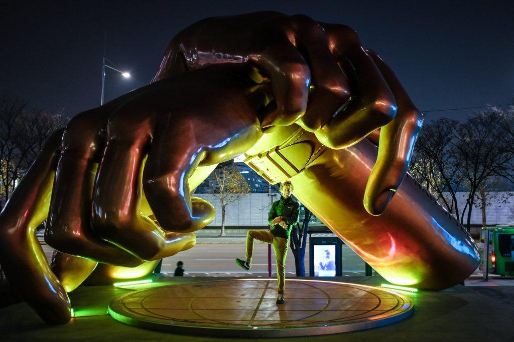 gangnam style statue korea ajourneylife